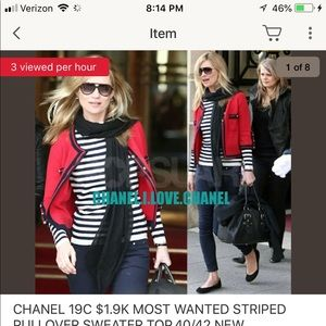 Chanel striped sweater